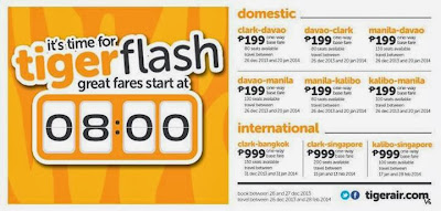 TigerAir Philippines Promo, TigerFlash