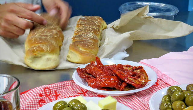 Streat Palermo Tour Sicily - Schiticchio - bread, sundried tomatoes, olives
