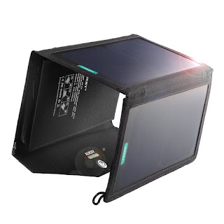 GREAT OFFER AUKEY Solar Charger 20W for Camping Climbing,etc £23.66 FREE P&P Amazon