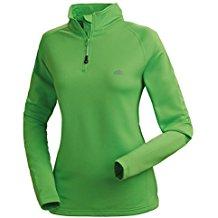 Nordcap Damenfunktionsshirt, Thermo-Sweatshirt mit Stretch in Grün, für Sport & Outdoor-Aktivitäten, Damen Langarm-Shirt (Größe: 39 - 46)