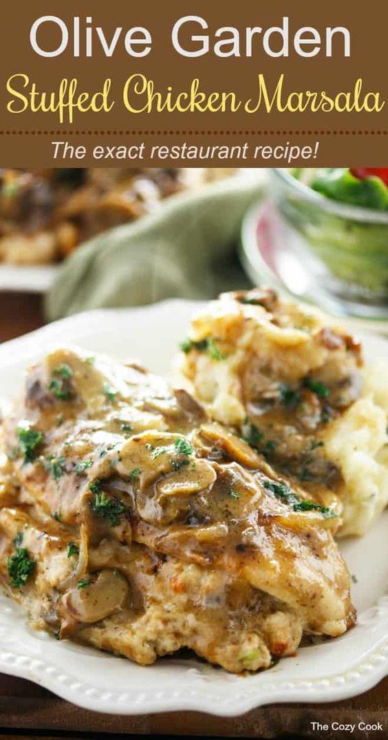 Olive Garden Stuffed Chicken Marsala