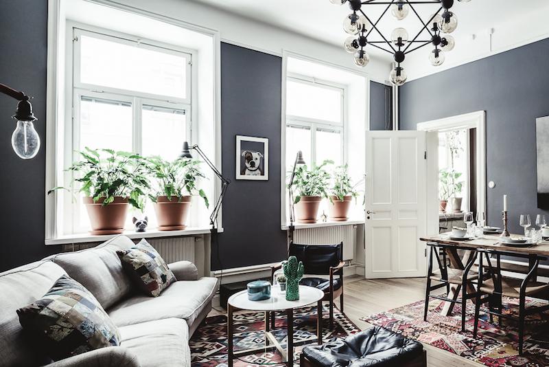 Interior] Color gris y detalles vintage para un interior acogedor ...