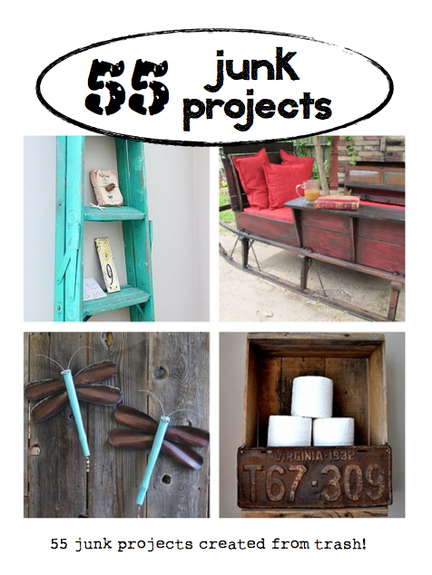 55 Junk Projects, curated by Chipping with Charm, featured on HomeTalk