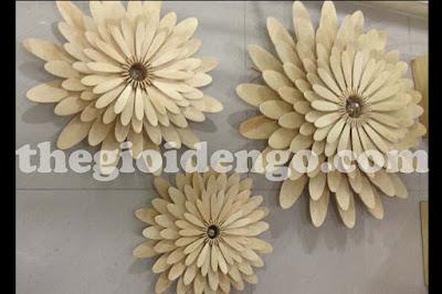 Thế Giới Đèn Gỗ - Đèn gỗ trang trí hoa cúc 4