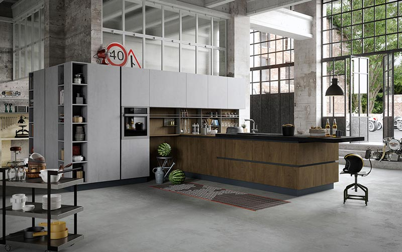 cucina Industrial Kitchen di Astra