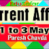 Current Affairs 1 to 3 May 2017 Video