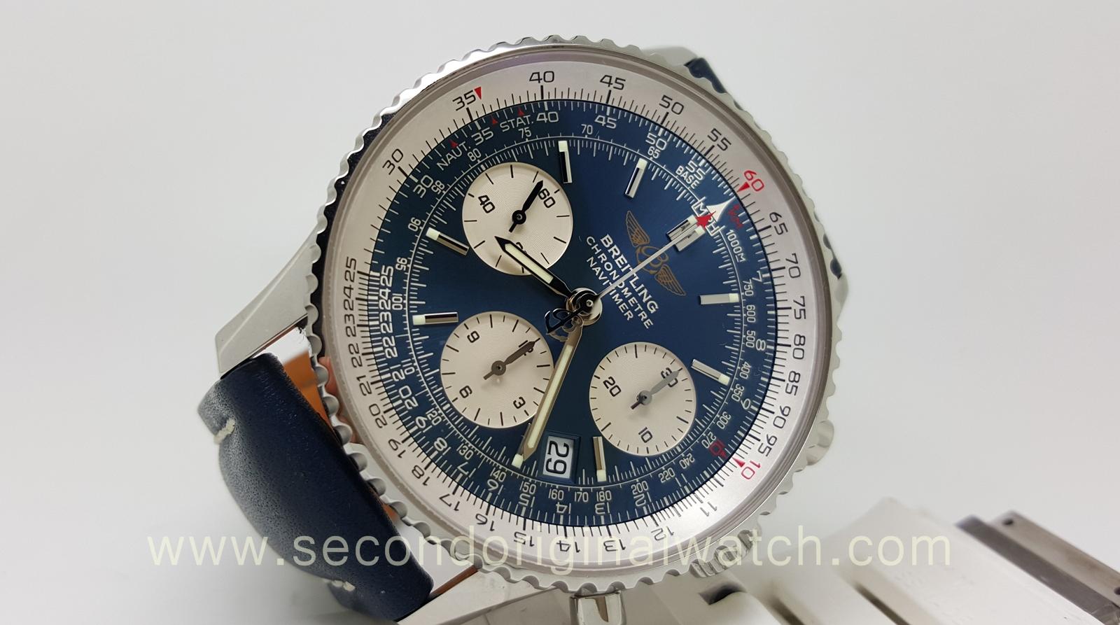 Jual jam tangan second original tarik tunai kartu kredit sold breitling navitimer for John travolta breitling