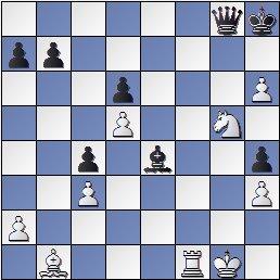 Posición final de la partida de ajedrez Portisch - Ulvestad Olaf, después de 42... Dg8