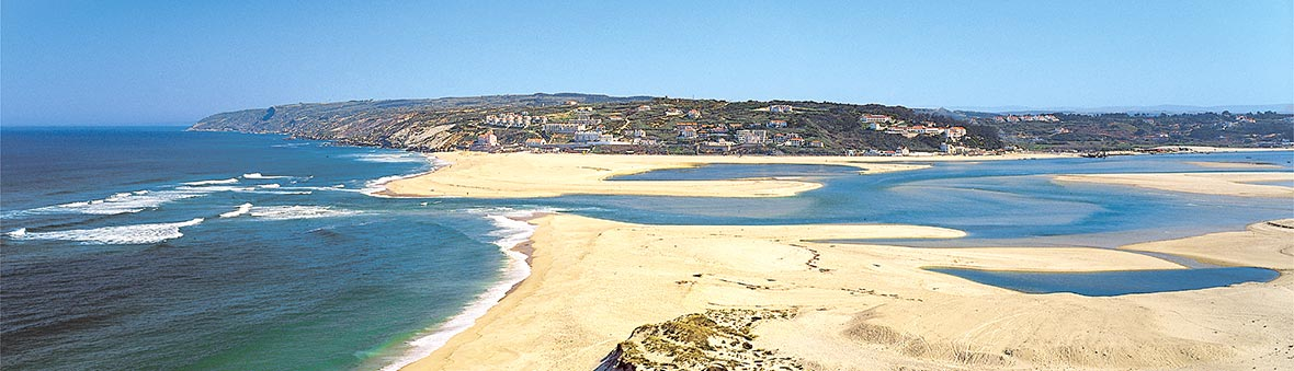 The mouth of Obidos lagoon, Foz do Arelho beach