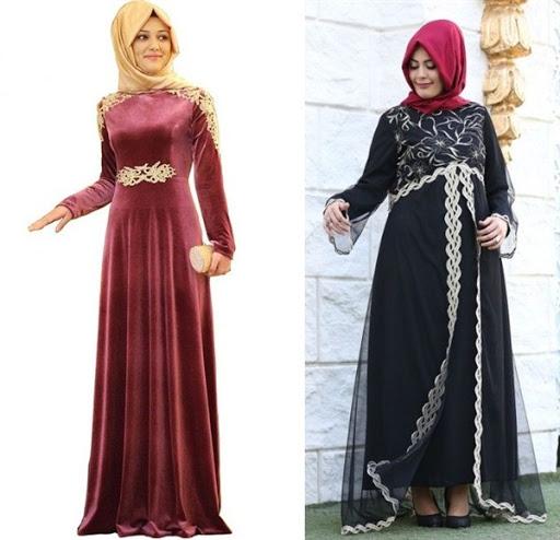dress muslimah untuk dinner terbaru 2017/2018