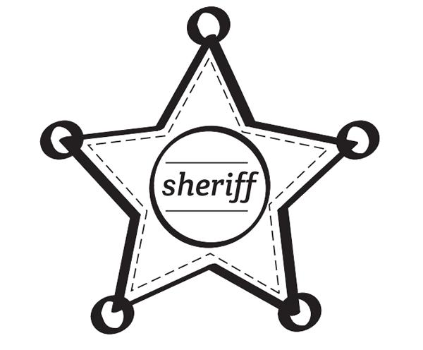 dibujos para colorear estrellas de sheriff para imprimir