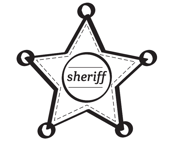 Dibujos De Estrellas Para Colorear E Imprimir: Dibujos Para Colorear: Estrellas De Sheriff Para Imprimir