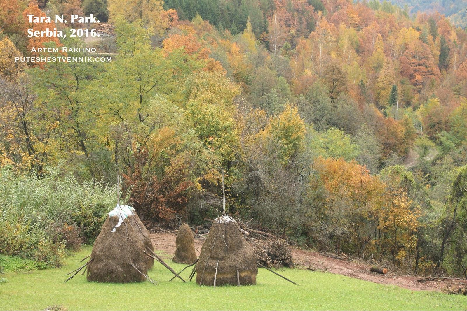 Стога сена и сербская осень