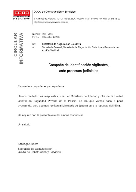 Casesaseccionsindicalccoo consultas al ministerio del for Ministerio del interior correo electronico