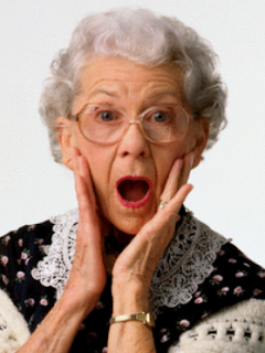 Image of shocked older woman