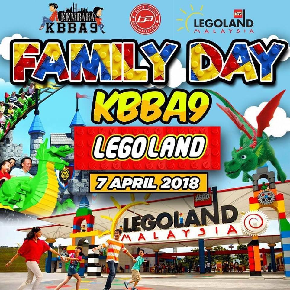 Family Day KBBA9 di Legoland Malaysia