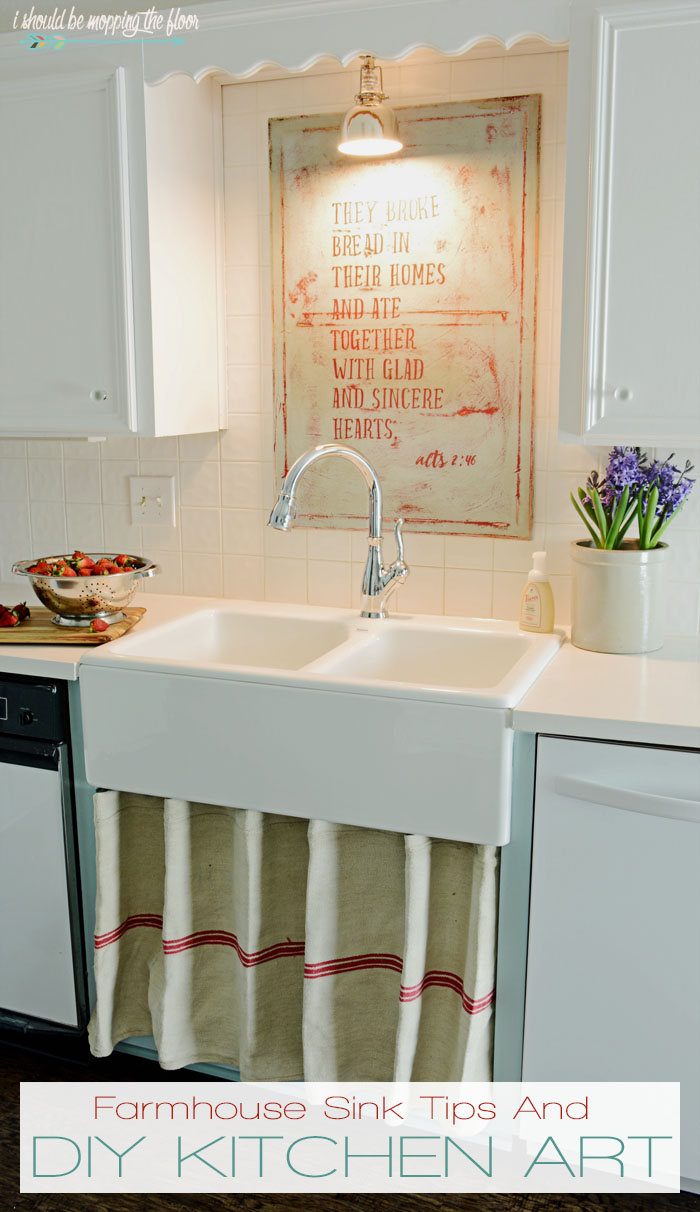 Farmhouse Sink Tips And DIY Kitchen Art Tutorial | Check Out The Before And  After Of