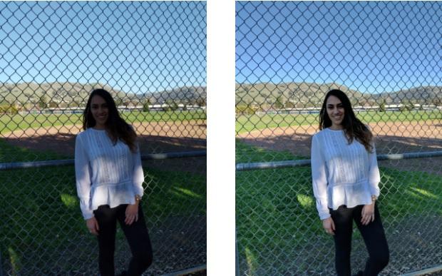 Zwei Fotoaufnahmen mit verschiedenen Bildqualitäten