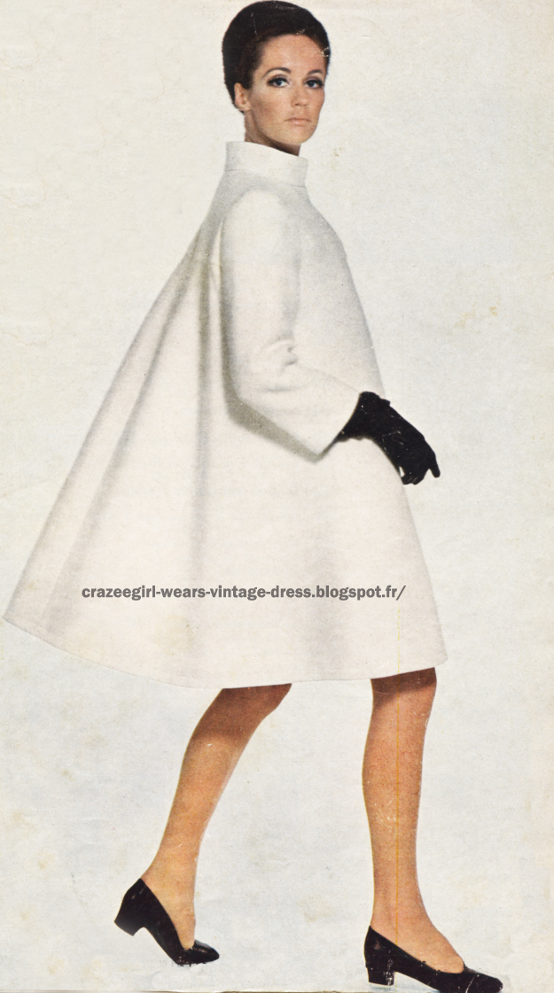 White coat - White dress - 1966 Maggy Rouff 60s 1960