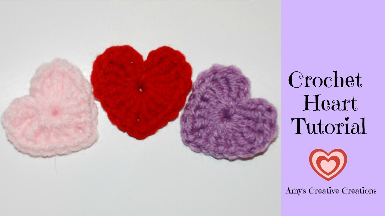 Amys Crochet Creative Creations: Crochet Heart Motif Tutorial with ...
