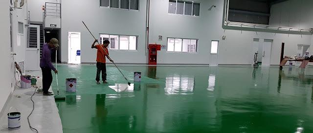 Quy trình thi công sơn epoxy tự phẳng nhà xưởng