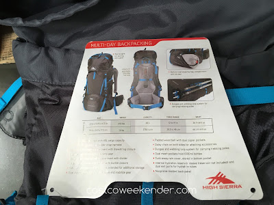 Costco 1017132 - High Sierra Tangent 45 Top-Loading Internal Frame Pack - to carry all your gear while being mobile