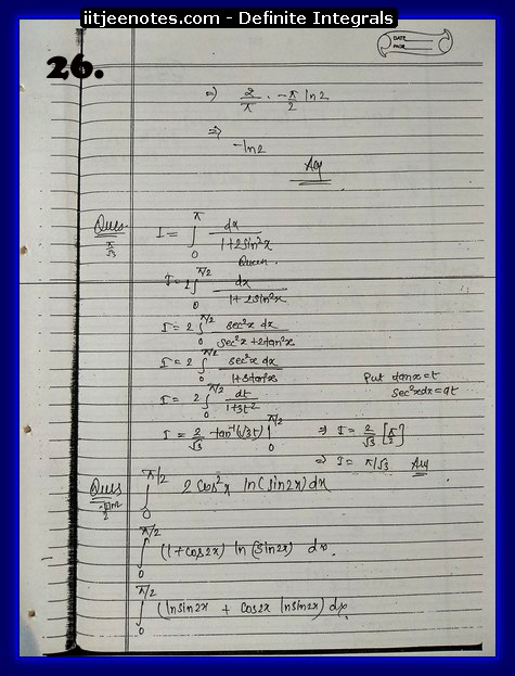 definite integrals notes5