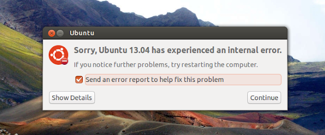 Disable system program problem detected Error Messages from Appearing in Ubuntu 13.10