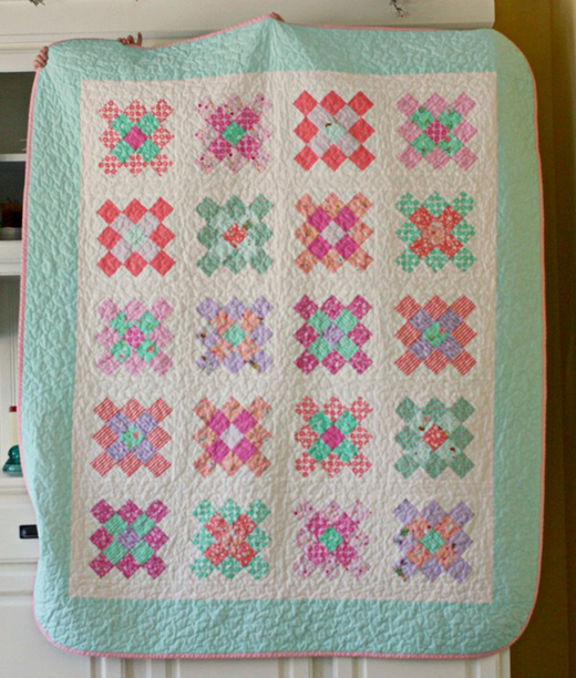 Granny Square Quilt Free Tutorial designed by Jolene Klassen of Blue Elephant Stitches for Modabakeshop