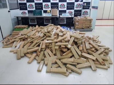 Polícia apreende 900kgs de maconha em Cotia