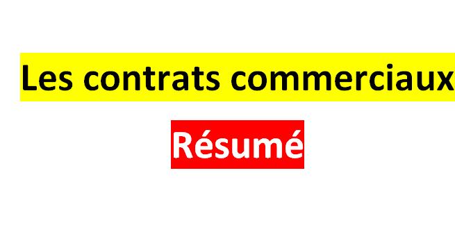 les contrats commerciaux r u00e9sum u00e9 pdf