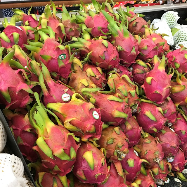 a pile of Dragon Fruit