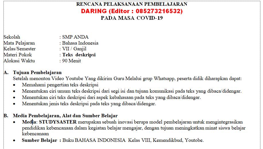 Aplikasi Bahasa Indonesia Kelas 7 - Peranti Guru