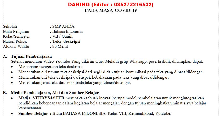 Aplikasi Bahasa Indonesia Kelas 7
