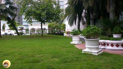 Central garden area of Hotel Istana, Taman Sari Restaurant, Malaysia