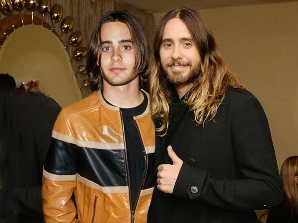 Jared Leto in 2014 (right) and in 1994
