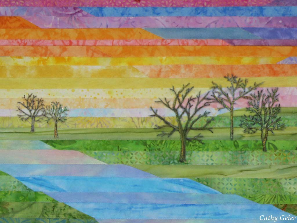 Cathy Geier S Quilty Art Blog The River Of Life Done