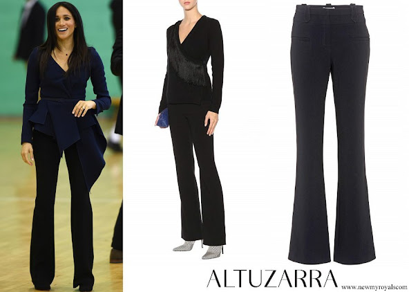Meghan Markle wore Altuzarra 'Serge' Black ​Boot-cut Trousers