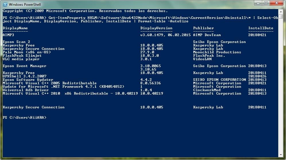 Generar un listado con todos los programas instalados con PowerShell - El Blog de HiiARA