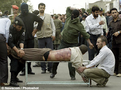 Public flogging in Iran