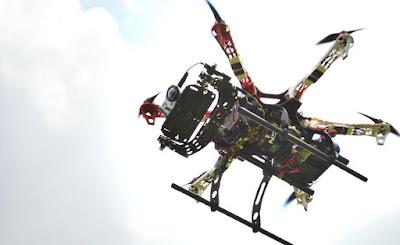 Drone Hexcopter era tahun 2013 dengan Gopro