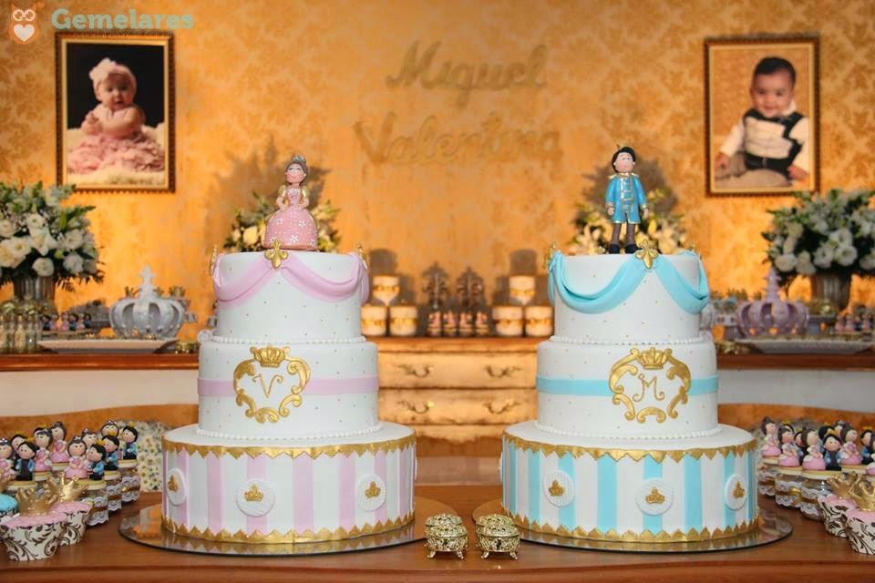 Muitas vezes Aniversário Príncipe e Princesa - Gêmeos Miguel e Valentina  BV37