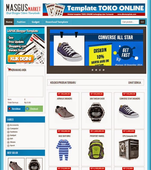 Download Template Toko Online Blogspot Gratis