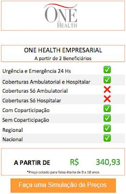 Planos de saúde Empresarial One Health