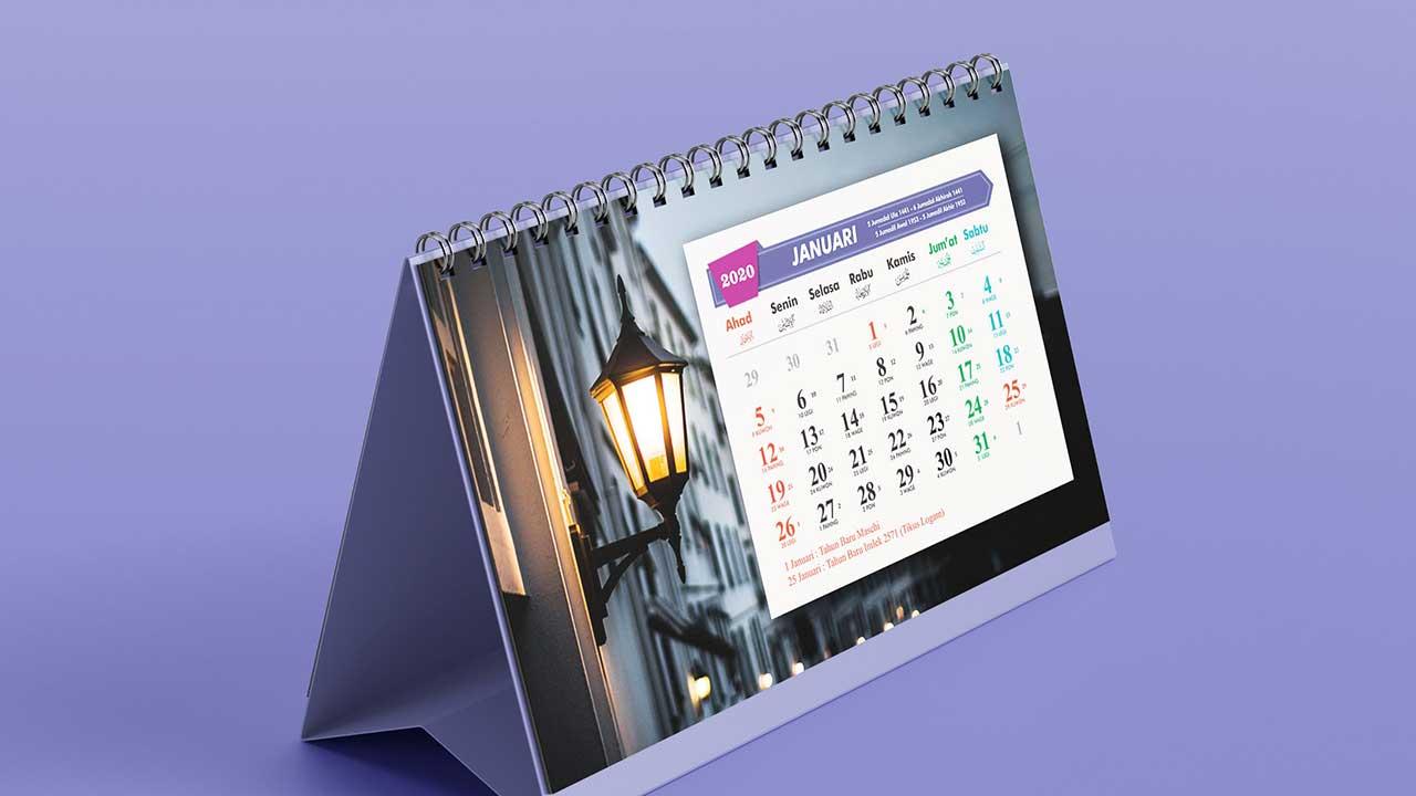 Desain Kalender Tahun 2020 CDR Lengkap: Jawa - Hijriah - Masehi