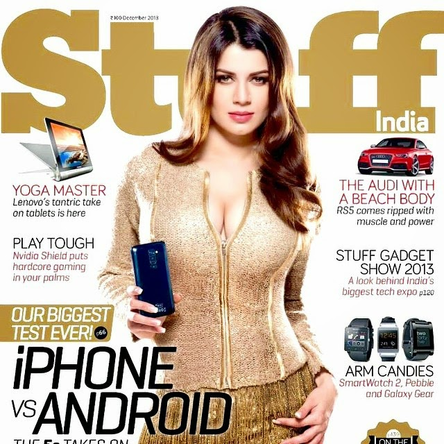 stuff india , kainaat arora , mens magazine , gadgets ,, Kainaat Arora Stuff Cover Girl - Dec 2014