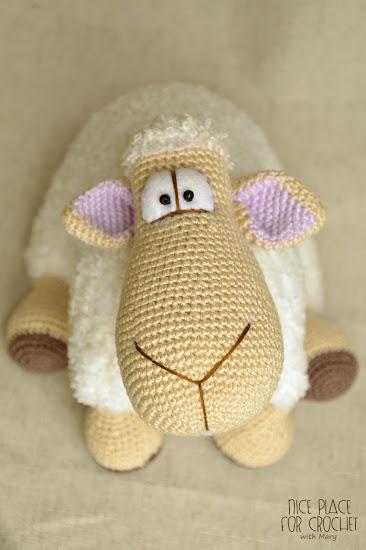 Вязаная крючком овечка схема