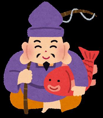 恵比寿様のイラスト