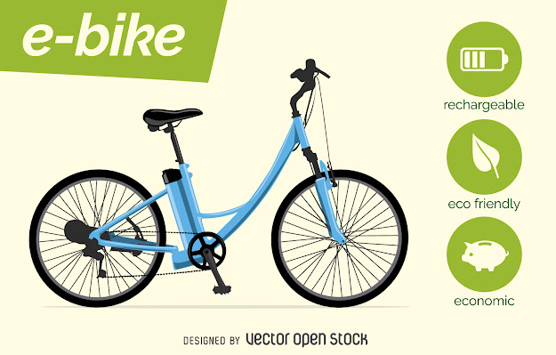 Electric Bike Vector With Characteristics Download Large Image Xpx
