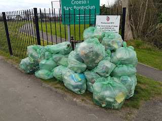 Litter collected at the Spring Clun!